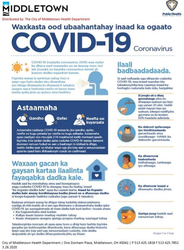 What You Need To Know COVID-19 Somali