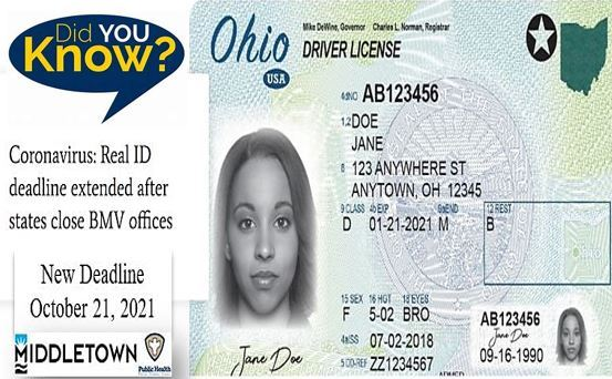 CMHD REAL ID NEW DEADLINE DATE