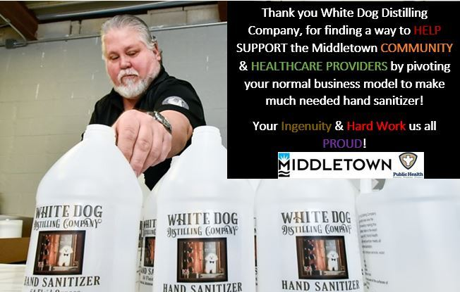 1CMHD THANK YOU WHITE DOG DISTILLING COMPANY