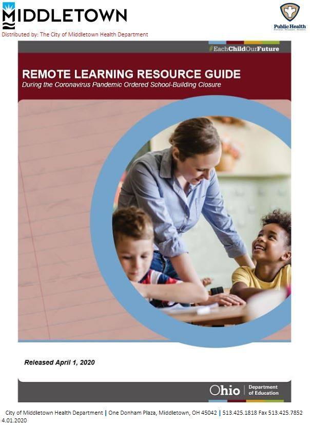 REMOTE LEARNING RESOURCE GUIDE COVER PAGE 4.01.2020