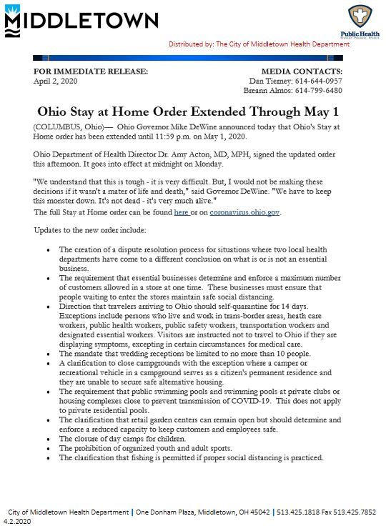 CMHD-ODH OHIO STAY AT HOME ORDER EXTENDED UNTIL MAY 1ST 4.02.2020