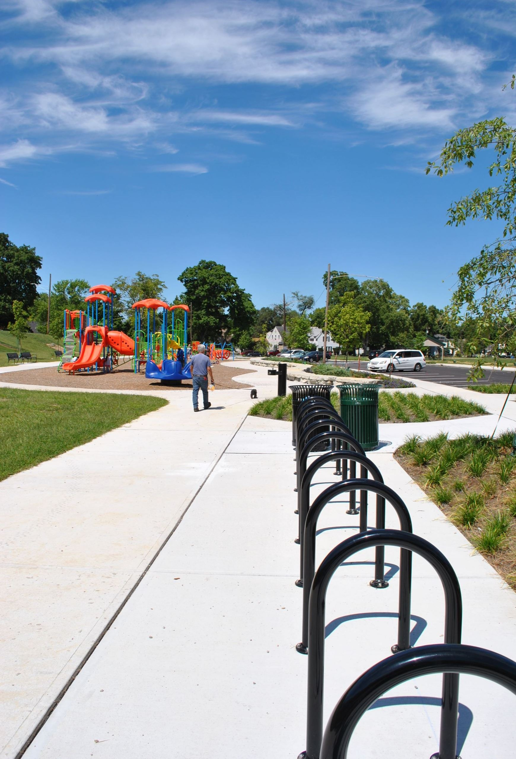Sunset Park Bike Racks and Playground, Middletown