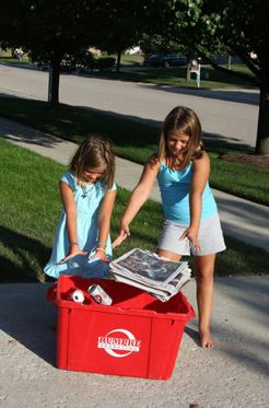 Two Kids Recycling