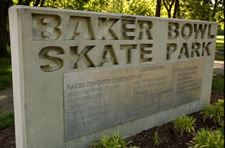 Baker Bowl Skate Park Sign